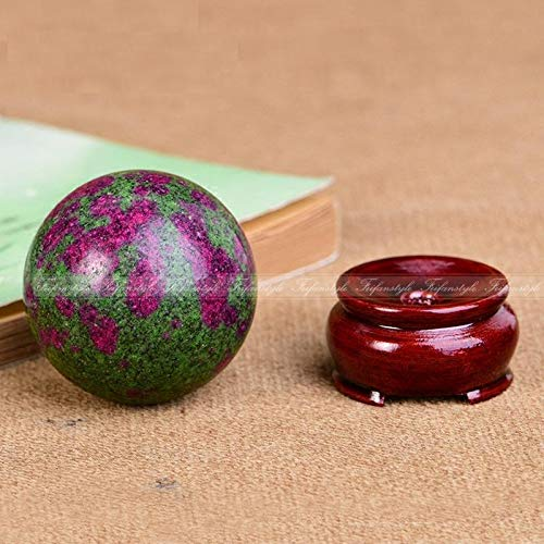 Dalas AAA++Natural Ruby Green Zoisite Anyolite Crystal Sphere Ball Chakra Healing Gemstone Feifanstyle Natural Stones and Minerals -