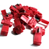 RED QUICK SPLICE SCOTCH LOCK WIRE CONNECTORS ELECTRICAL CABLE JOINTS AUTO QS1 (10)