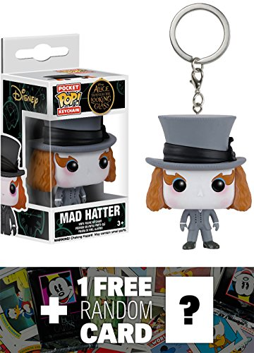Figural Glass (Mad Hatter: Funko Pocket POP! x Alice Through The Looking Glass Mini-Figural Keychain + 1 FREE Classic Disney Trading Card Bundle (07594))