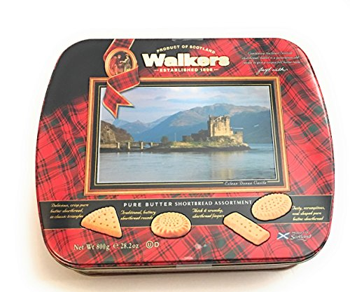 Walkers Pure Butter Shortbread Assortment Tin Eilean Donan Castle ~ (Butter Shortbread)