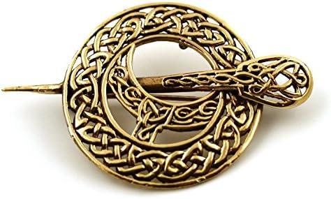 ブロンズフィリグリーケルトノットアイリッシュタラピンとブローチVintage Norse Jewelryタイ製