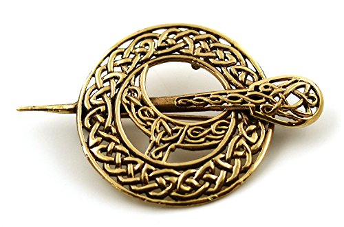 - LynnAround Bronze Filigree Celtic Knot Irish Tara Pin and Brooches Vintage Norse Jewelry Thailand Made (2 in 1 Brooch & Pendant V.2)
