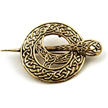 Bronze Filigree Celtic Knot Irish Tara Pin and Brooches Vintage Norse Jewelry Thailand Made