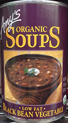 Amy's Organic Soups Black Bean Vegetable 14.5oz Can (Pack of 8) (Amys Soup Black Bean)