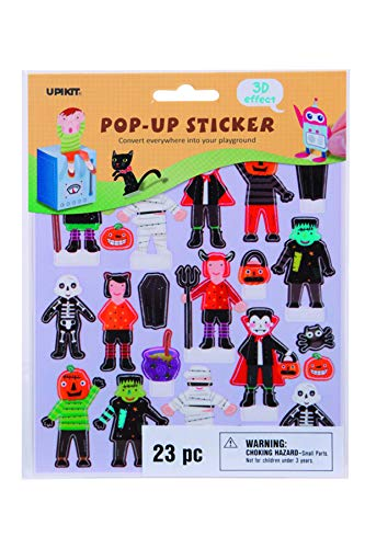 Upikit 266016 Halloween Pop Up Stickers, Multicolor ()