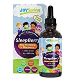 SleepBerry Liquid Melatonin for Kids - Natural Sleep Aid with Elderberry and Vitamin D - Boost Immune System While They Sleep