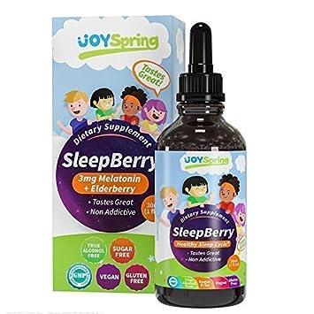 SleepBerry Liquid Melatonin for Kids - Natural Sleep Aid with Elderberry and Vitamin D - Boost