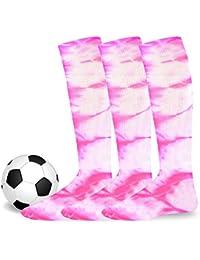 Cotton Unisex Soccer Sports Team Socks 3 Pack