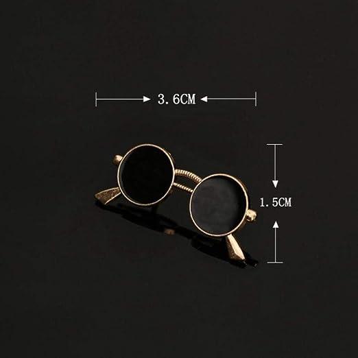 Craven Moda Esmalte Óleo Gafas Gafas de Sol Alfileres y broches Traje de Hombre Camisa de Vestir Cuello Ropa y Accesorios para Hombre, F: Amazon.es: Hogar