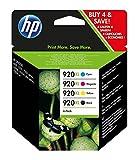 HP 920XL 4-pack High Yield Black/Cyan/Magenta/Yellow Original Ink Cartridges (C2N92AE)