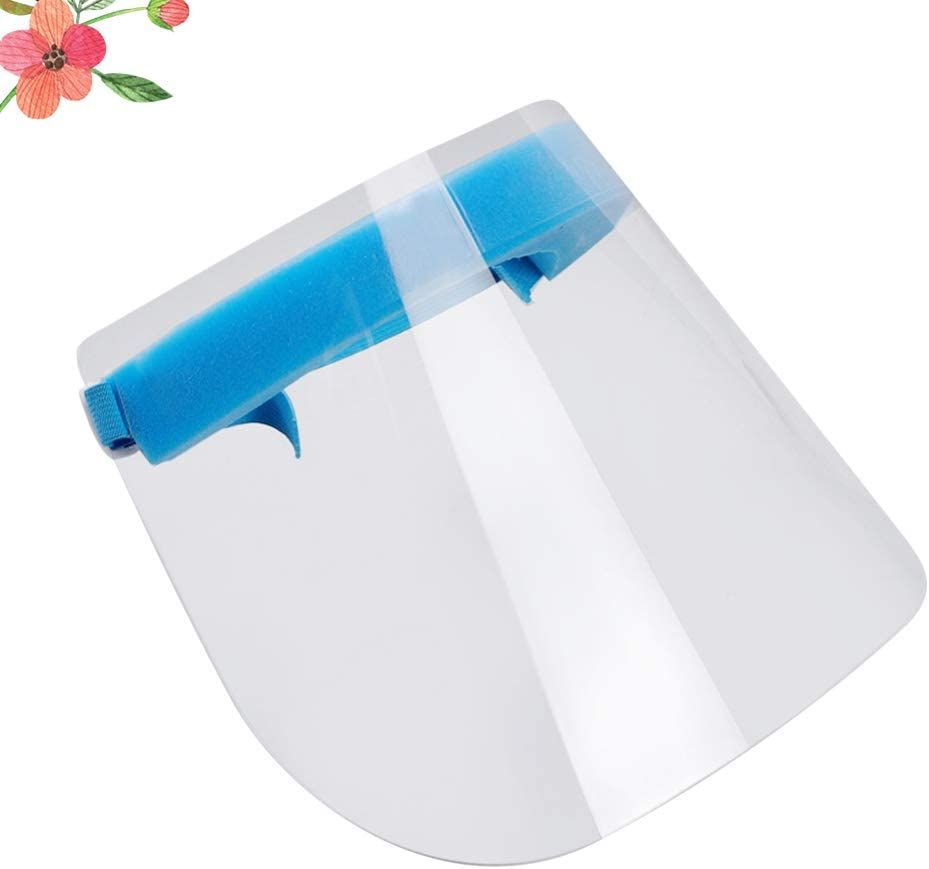 3 Piezas Exceart Protector Facial de Seguridad Visera Transparente M/áscara Protectora Protecci/ón contra La Saliva Visera del Sombrero Anti Escupir M/áscara Anti Salpicaduras de Aceite Transparente