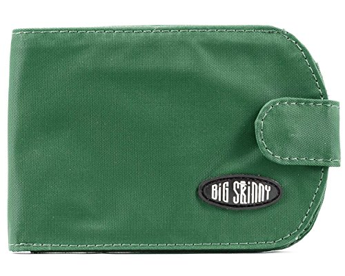 Big Skinny Women's Taxicat Bi-Fold Slim Wallet, Holds Up to 25 Cards, Verdant (Plenty Bi Fold Wallet)