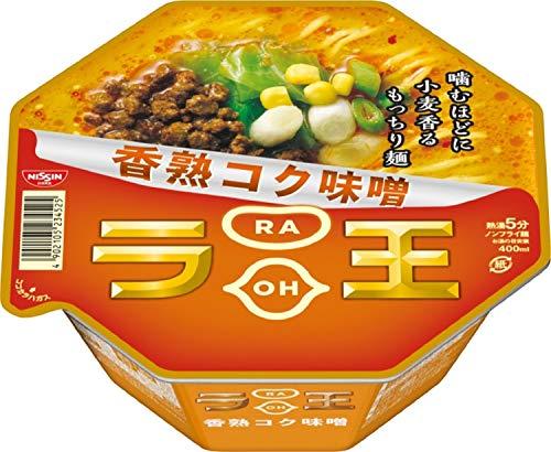 닛신 NISSIN 컵라면 닛신 라왕 라오 컵라멘 구수한 향의 진한 된장 미소라멘 122g×12개