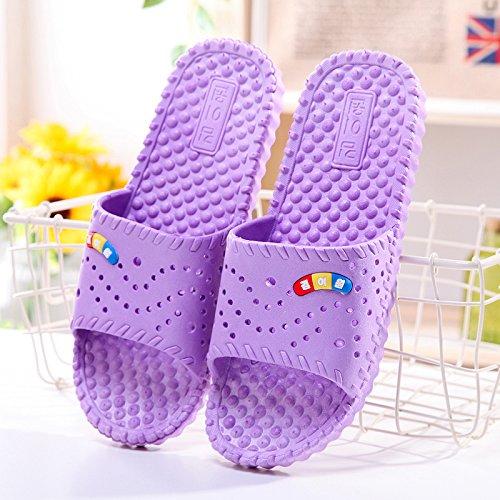 e plastica con bagno antiscivolo stanza Viola ha donne di pantofole 39 cool bagno un Fankou coppie home uomini in pantofole massaggio per soggiorno estate estate da nbsp;Il 7W1Xx6TqR