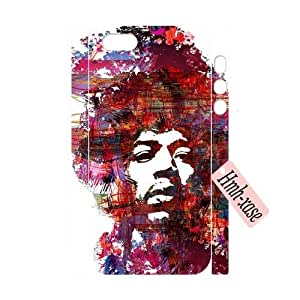 Custom 3D Cover Case for iPhone 5,iPhone 5s w/ Jimi Hendrix image at Hmh-xase (style 4)