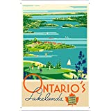 Tin Sign of Retro Vintage Travel Poster Ontario Canada (20x30cm) By Nature Scene Painting