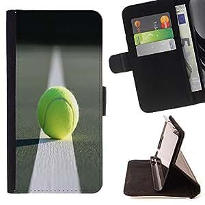 Jordan Colourful Shop -Tennis Ball Sport -- Leather Case Absorci¨®n cubierta de la caja de alto impacto FOR Samsung Galaxy S4 IV I9500 i9508 i959 ---