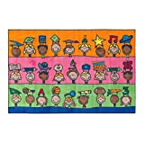 Flagship Carpets CE190-22W Fun at School Rug, Explore Health and Wellness As Well As STEAM Subjects, Children's Classroom Educational Carpet, 4' x 6', 48'' Length, 72'' Width, Multi-Color