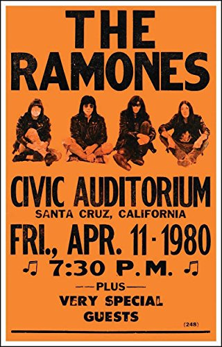 The Ramones Vintage Style Concert Poster