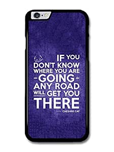"AMAF ? Accessories Cheshire Cat Alice in Wonderland Life Inspirational Quote case for iPhone 6 Plus (5.5"")"