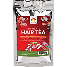 Shifa Hair Tea With Turmeric: Replenishing Tonic for Clarifying Scalp and Strong Healthy Hair with Herbs, Phytonutrients and Antioxidants — 2 oz.