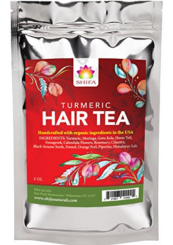 - Shifa Hair Tea With Turmeric: Replenishing Tonic for Clarifying Scalp and Strong Healthy Hair with Herbs, Phytonutrients and Antioxidants — 2 oz.