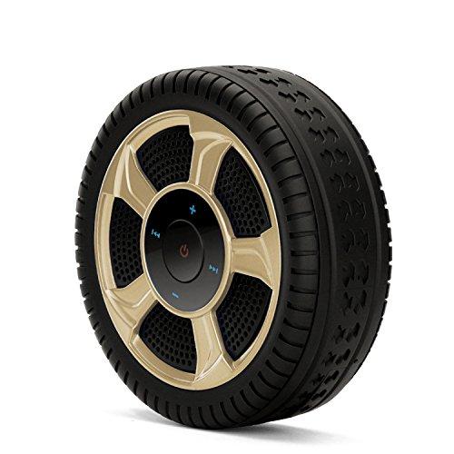 Mingwan Portable Gold Tire Shape Wireless Bluetooth Speaker