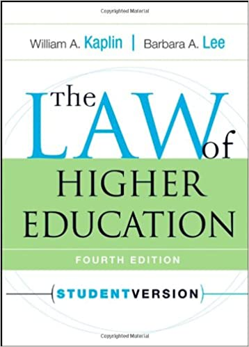 The law of higher education 4th edition william a kaplin barbara the law of higher education 4th edition 4th edition fandeluxe Image collections