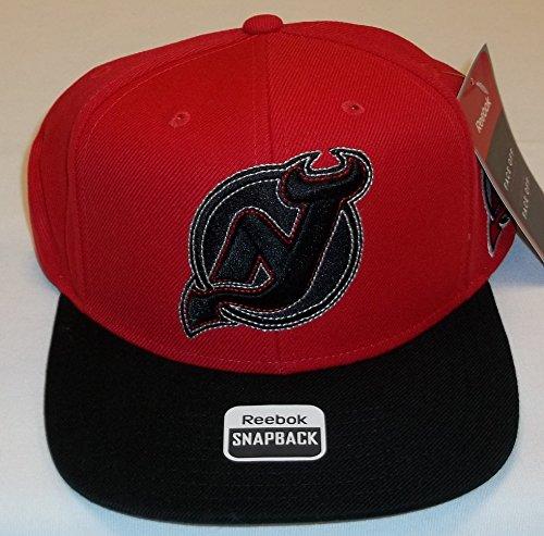 - Reebok New Jersey Devils Red/Black Face Off Snapback Hat - Adult One Size VS78Z