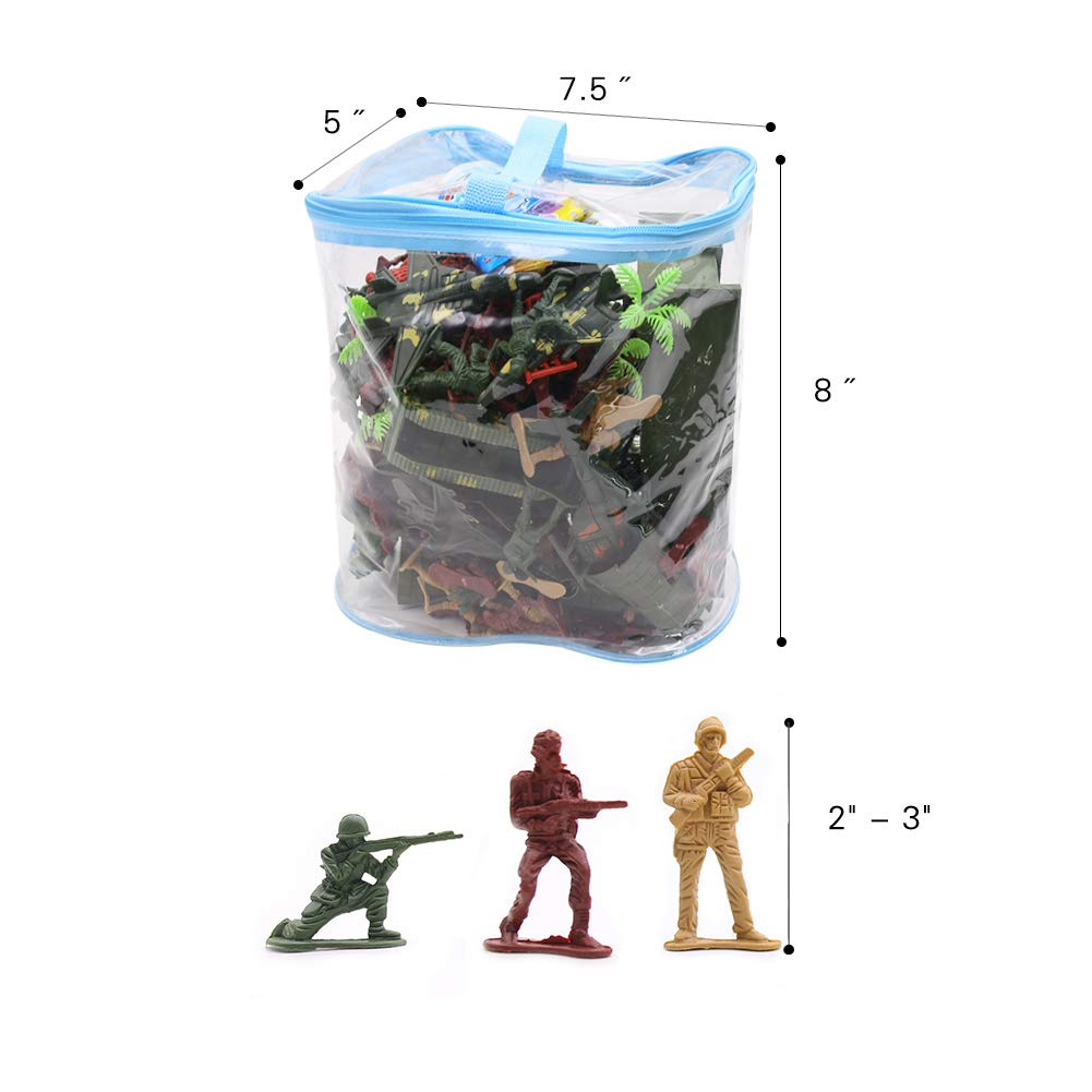 c92ca924757 146 PCS Army Soldiers, Battle Group Army Man Toy Soldiers Playset Action  Figures Game