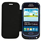Samsung Galaxy S3 MINI Battery Case,iPower Factory™2000mAh External Backup Battery Charger Cover Case For S3 MINI Rechargeable Power Bank Case,Portable Backup Power Bank Case(Black with flip)