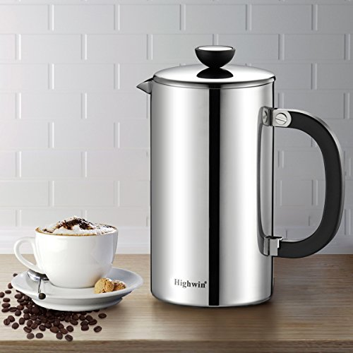 Highwin 8 Cup Double Wall Stainless Steel French Coffee