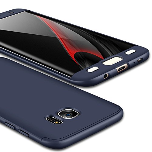 Coque Bleu Samsung Edge Degres Rigide Galaxy S6 pour S6 Marine Ultra Vanki Lger Case 360 Protector Rcurer Galaxy Souple en PC 3 Shell 1 dxpFwd