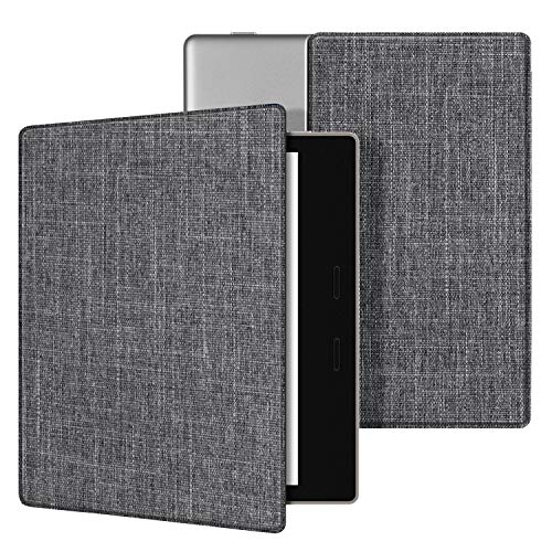 Ayotu Fabric Case for Kindle Oasis(9th Gen, 2017 Release) Thinnest and Lightest,Durable Soft Fabric Cover with Auto Wake/Sleep Function,Strong Adsorption for All-New7Kindle Oasis Case,KO-09 The Gray