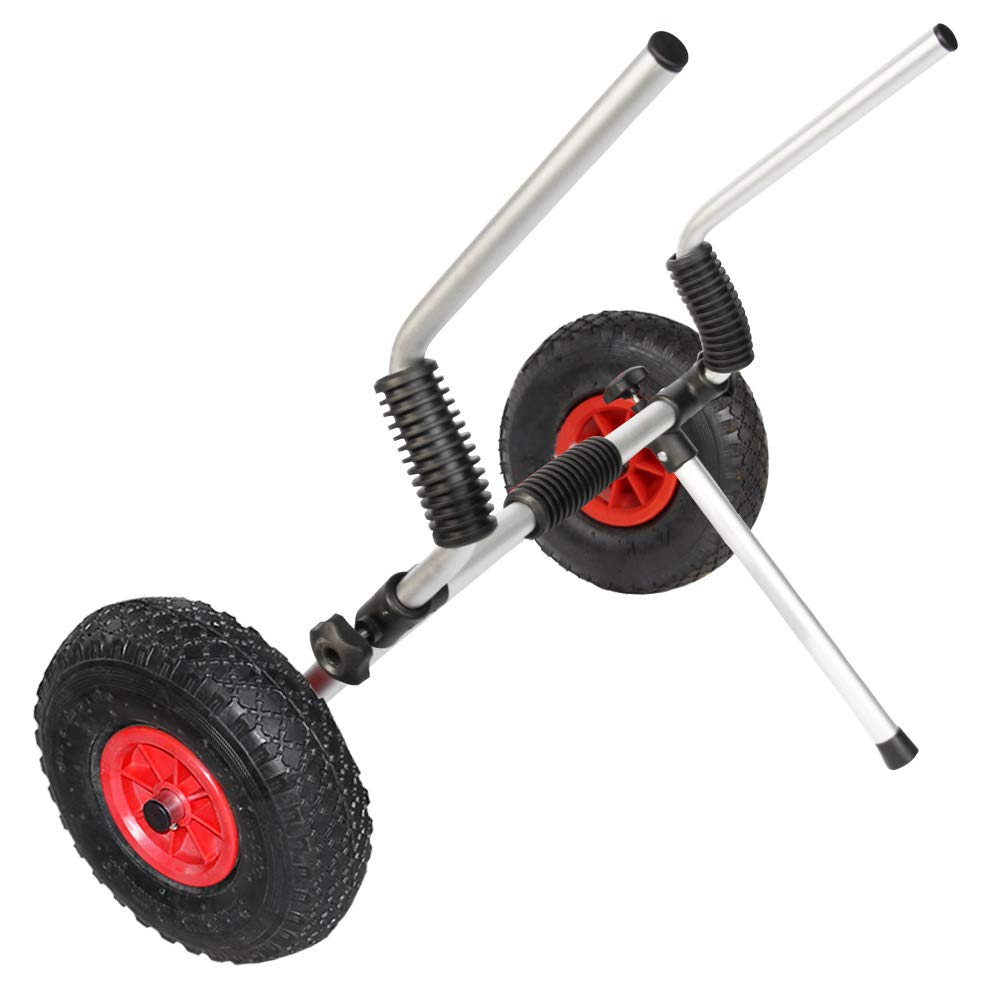 ASMSW Universal Aluminum Sit on Top Boat Kayak Canoe Carrier Scupper Cart Dolly Tote Trolley Wheels by ASMSW