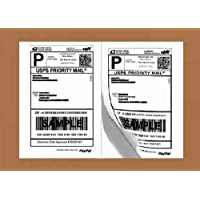 Etiquetas de envío autoadhesivas de media hoja para impresoras láser y de inyección de tinta, 200 unidades (BL-G8511-100)