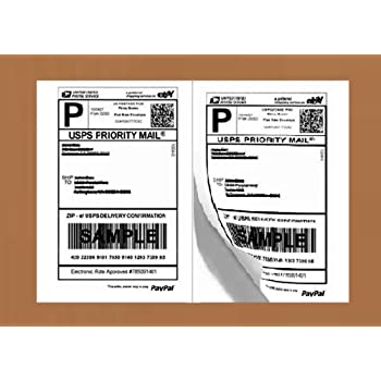 Half Sheet Self Adhesive Shipping Labels for Laser & Inkjet Printers, 200 Count (BL-G8511-100)