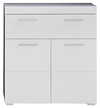 Trendteam Smart Living Badezimmer Schrank Kommode Amanda, 73 X 79 X 31 Cm  In Weiß
