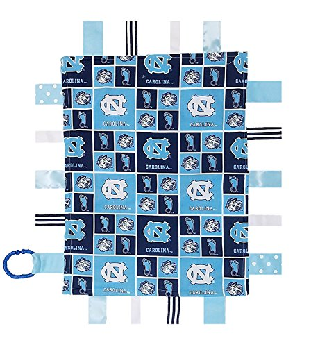 (Future Tailgater North Carolina UNC Tar Heels Baby Sensory Tag Lovey Blanket)