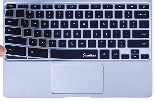 CaseBuy-Keyboard-Cover-Protector-Skin-for-Samsung-ARM-116-Chromebook-2-XE500C12-Chromebook-3-XE500C13-116-inch-Chromebook-Black
