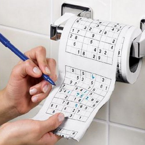 Sudoku Puzzle Game Roll Toilet Loo Tissue Paper Gag