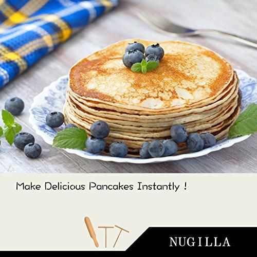Nugilla Original Crepe Spreader and Spatula Set – 3 Pieces 10-inch Spatula | 4.7-inch Spreaders – Premium Beechwood for Crepe Pan Maker/Breakfast Pancakes by Nugilla (Image #5)