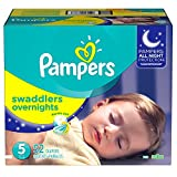 Pampers Overnight, Unisex, Talla 5, Pañales, 52 Piezas