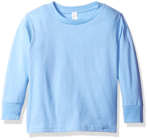 Clementine Apparel Baby Girls' Little Long Sleeve Basic Tee, Light Blue, - Light Infant Blue Sweatshirt