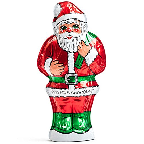 Madelaine Chocolates, Highly Detailed, 3-dimensional Solid Premium Milk Chocolate Santa, Wrapped In Italian Foil - 6 OZ - 1 Pack