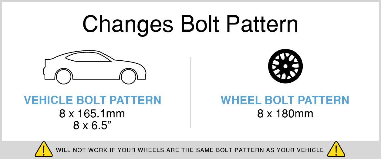 Amazon RockTrix For Precision European 60pc 6060 60 Lug Wheel Impressive Chevy 8 Lug Bolt Pattern