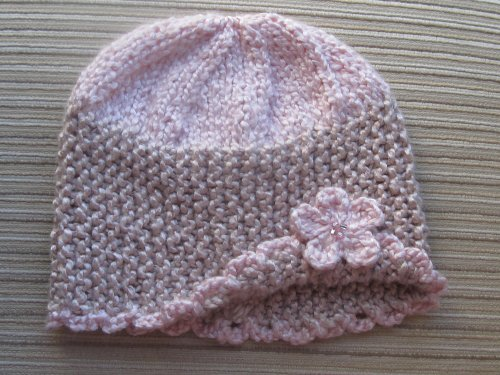 Knitting Pattern Spring Hat with a Flower for a Girl ( 3-6 months, 3-6 years)
