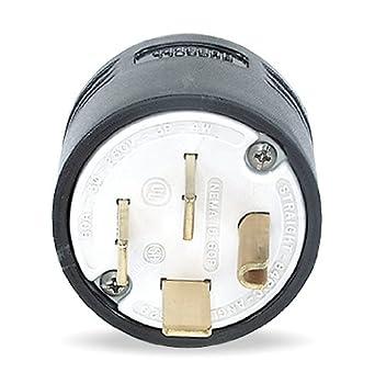 4 Wire Industrial Straight Blade Plug 120//208VAC 60A