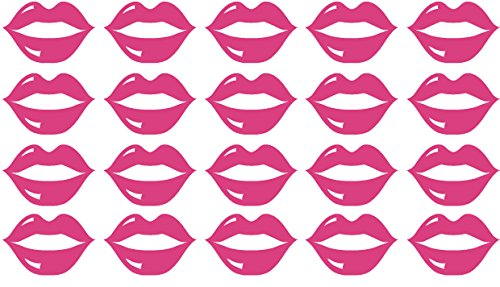 20 x lips shaped vinyl Stickers, each approx 1 1/2″ wide. Children's bedroom, Nurser ...