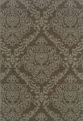 Damask Sisal Rug (Oriental Weavers 8424P Bali Outdoor/Indoor Area Rug, 7-Feet 10-Inch by 10-Feet 10-Inch)